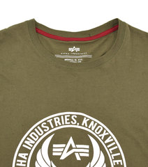 Футболка Alpha Industries 60Th Anniversary Olive (Оливковая)