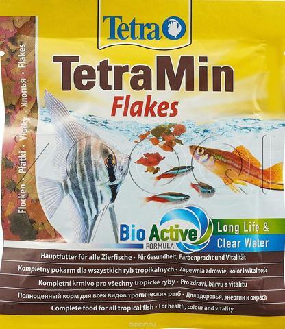 TetraMin корм для всех видов рыб в виде хлопьев 12 г