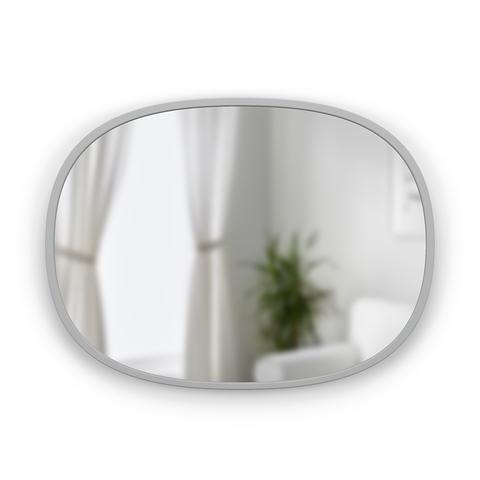 Зеркало овальное Hub 45 х 60 см серое