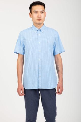 Рубашка с коротким рукавом WCC BASIC GINGHAM SHIRT S S Tommy Hilfiger