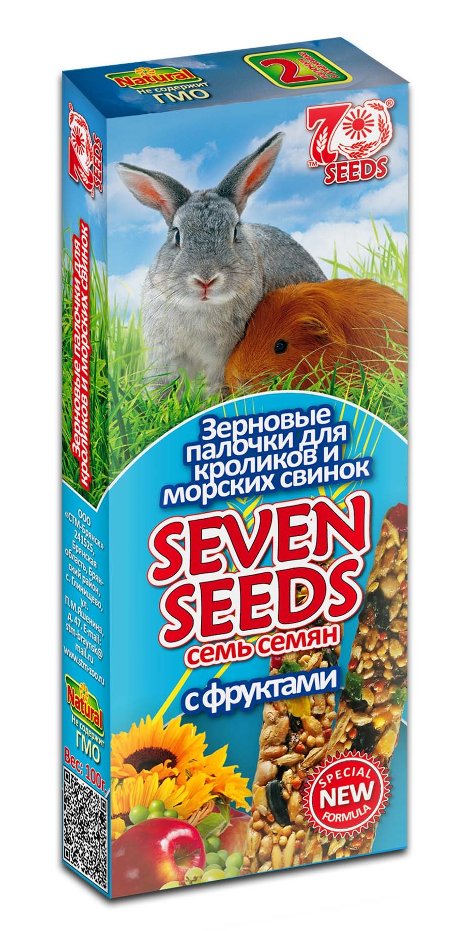 Лакомства Палочки для кроликов и морских свинок с фруктами Seven Seeds Special 17.jpg