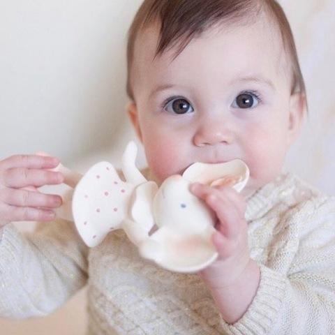 Игрушка-пищалка из натурального каучука мышка Meiya