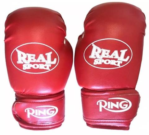 Перчатки  боксерские  REALSPORT  8 унций, красный (ЕвСп) (к 33578 8 унц красный)