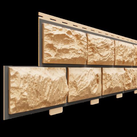 Фасадные панели (Цокольный Сайдинг) Доломит Альпийский Премиум Опал