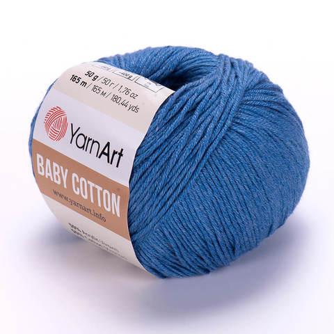 Пряжа Baby Cotton (Бэби Котон) Джинсовый. Артикул: 447