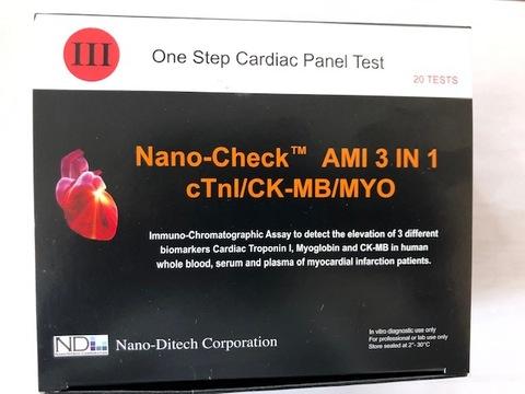 Тест-полоски Наночек-Nano-CheckTM AMI 3 in 1  20 шт/уп для Nano-Checker 710