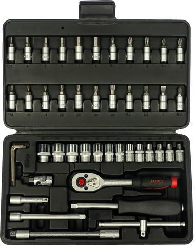 Набор инструмента с 6-ти гранными головками FORCE 1/4 46 предметов 2462