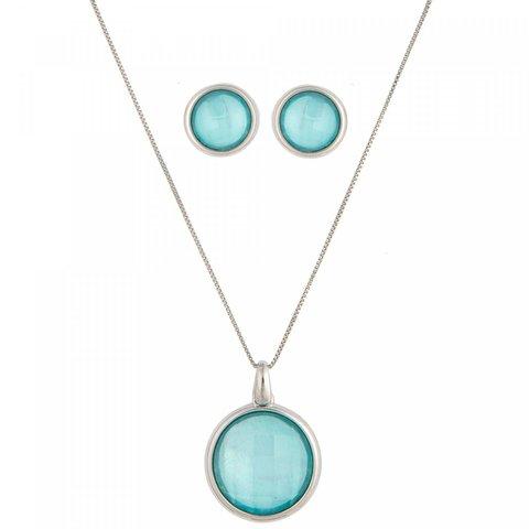Комплект pearl blue sky agate S9506.21 B/S