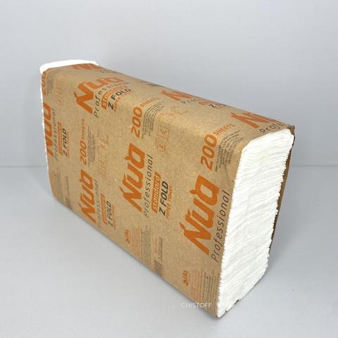 Полотенце бумажное листовое LILA Z сложения 2сл. (200 л.) белое