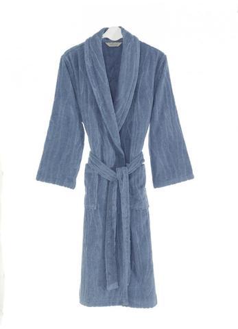 Мужскй махровый банный халат SORTIE голубой
