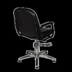 Парикмахерское кресло Бриз-3 гидравлика хром, пятилучье хром на подпятникахпневматика