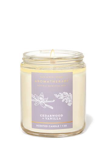 Свеча Bath&BodyWorks Aromatherapy Cedarwood + Vanilla 198 г.