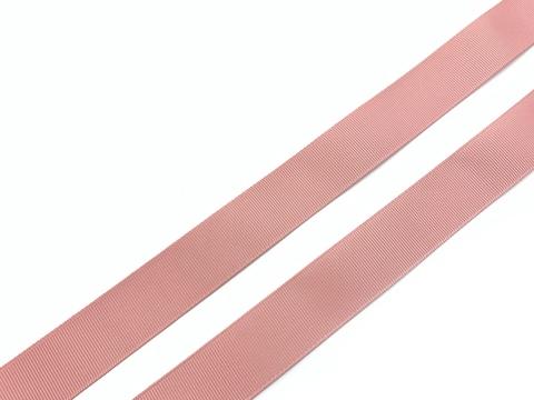 Репсовая лента (сантюр) 25мм, пыльно-розовый