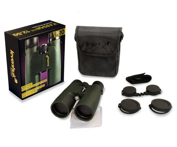 Комплект бинокля Levenhuk Karma Pro 12x 50