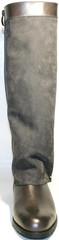 Сапоги женские зимние на низком каблуке