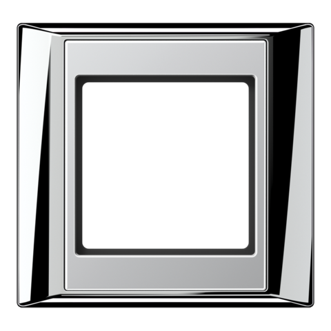 Рамка на 1 пост. Цвет Хром-алюминий. JUNG A PLUS. AP581GCRAL