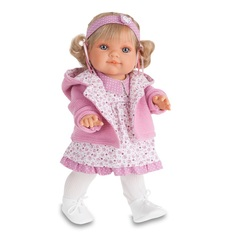 MUNECAS ANTONIO JUAN Кукла Эвита в розовом, 38 см (2248P)