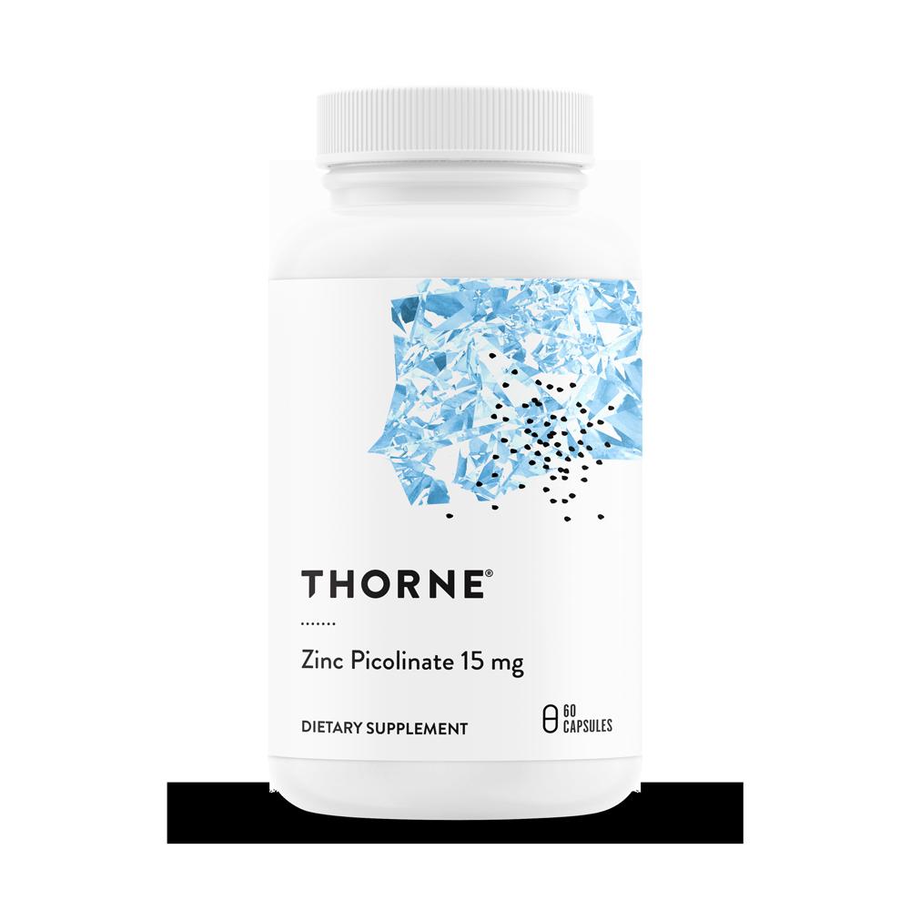 Пиколинат Цинка 15 мг, Zinc Picolinate 15mg, Thorne Research, (60 капсул)