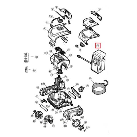 Блок питания AquaVac 500 (RCX341162) / 16463