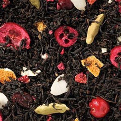 Черный чай Священная ягода (малина-клюква)