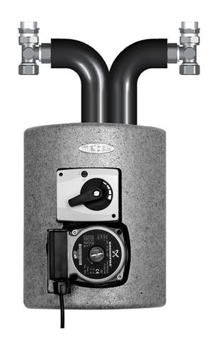 Насосная группа Meibes Thermix ME 27400 с насосом Grundfos UPS 15-50 MBP 3-х ход.смес.,эл. серводвом