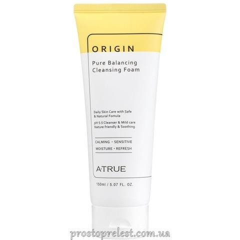 A-True Origin Pure Balancing Cleansing Foam - Балансуюча очищуюча піна для обличчя