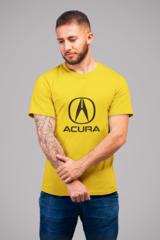 Мужская футболка с принтом Акура (Acura) желтая 002
