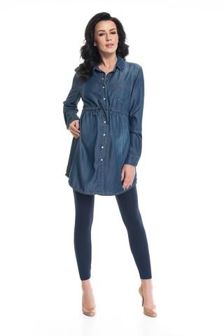 Рубашка для беременных 08871 синий