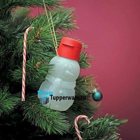 Эко бутылка Снеговик ри.2