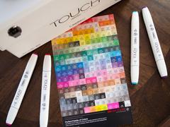 Touch Twin Brush набор маркеров для скетчинга 48 шт в чемодане - двусторонние спиртовые кисть/долото