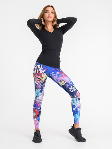 Рашгард удлиненный для йоги и фитнеса