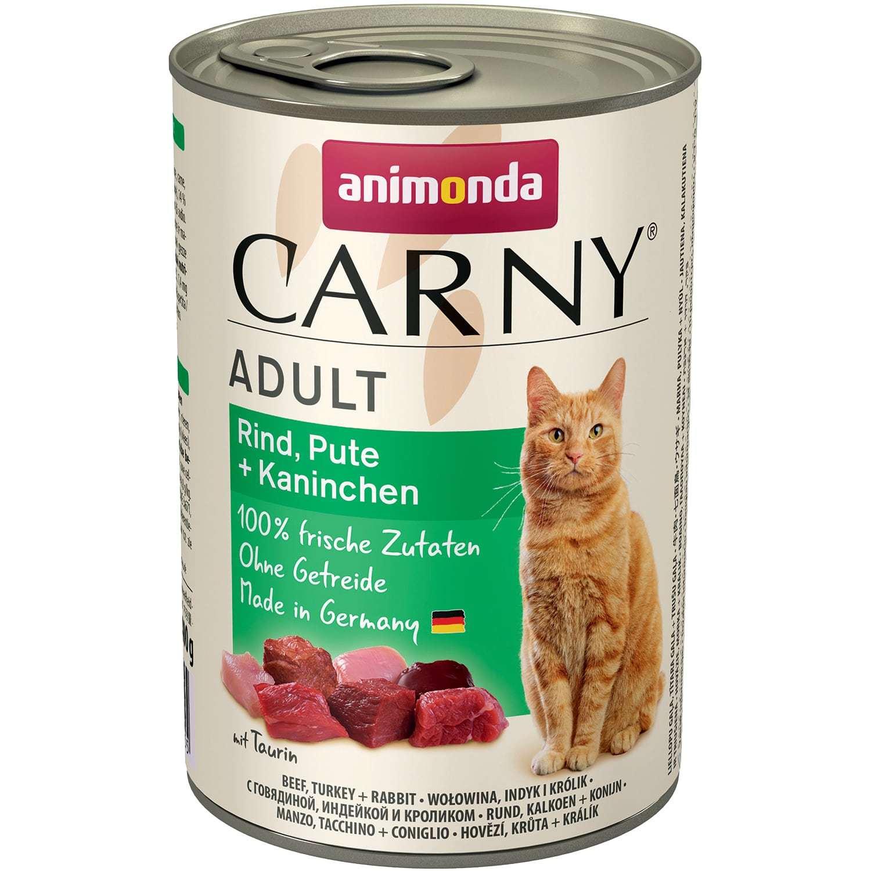 Купить консервы Animonda CARNY Adult Beef, Turkey, Rabbit