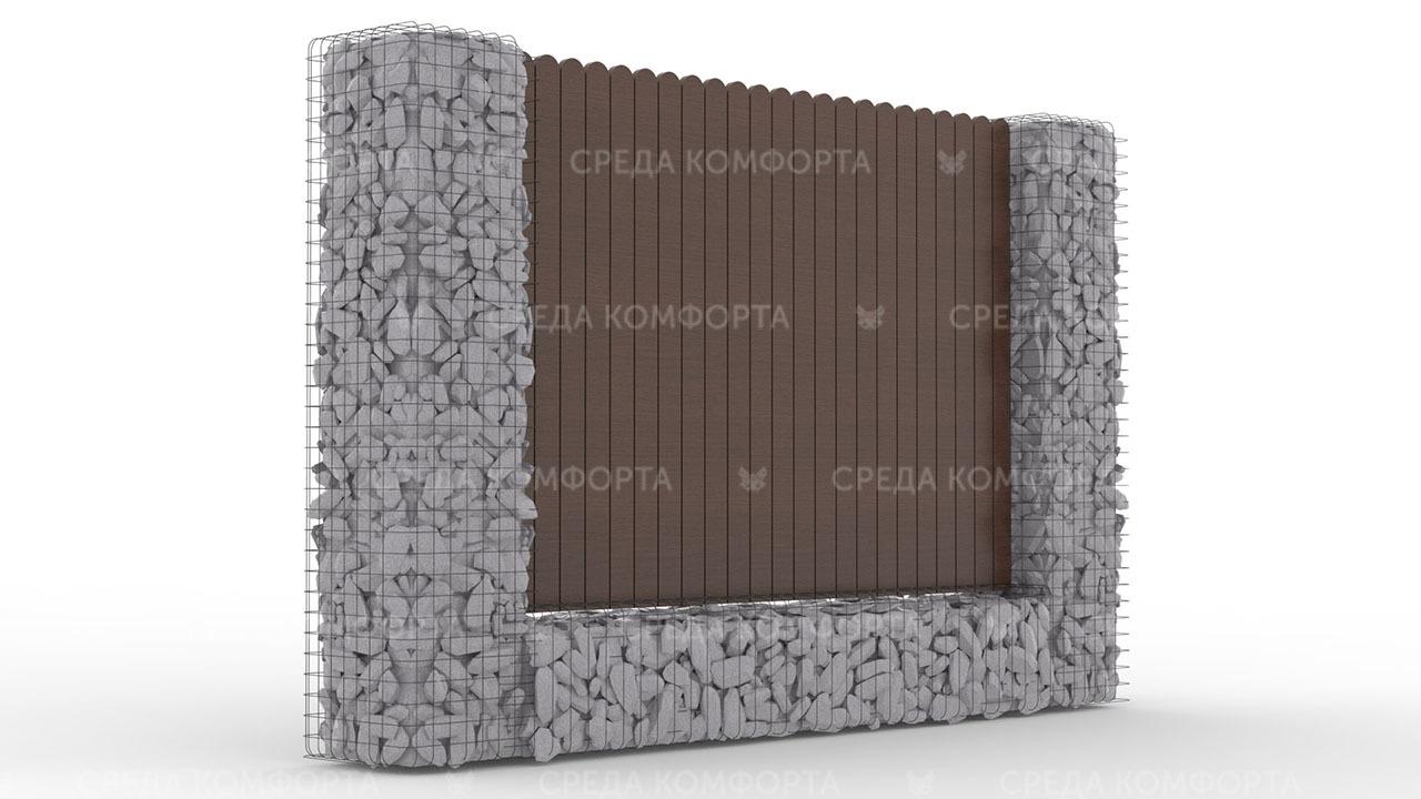 Деревянный забор ZBR0101