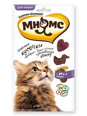 Лакомые кусочки для кошек Мнямс мясное ассорти, курица, ягненок, утка