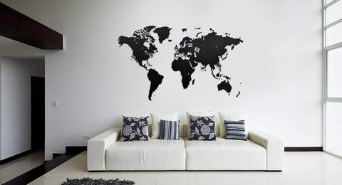 Карта мира True Map Puzzle Black 150 см х 90 см