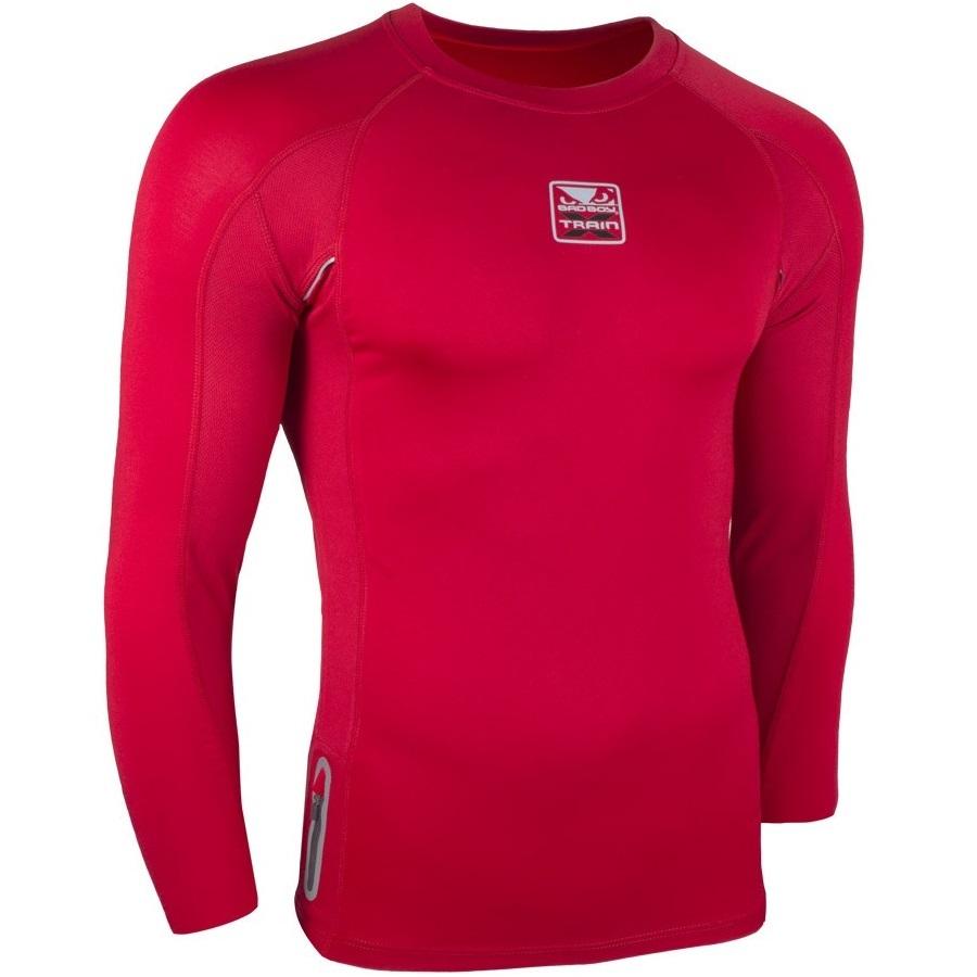 Термобелье/Рашгарды Рашгард Bad Boy X-Train Compression T-shirt Long Sleeves - Red& 1.jpg