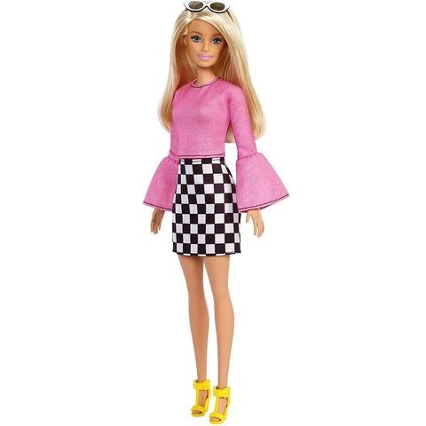 Барби Fashionistas 104 в Розовом Топе и Клетчатой Юбке