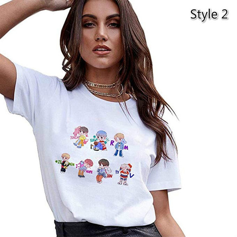 BTS Cute Koop T Shirt White - BTS köynək 2