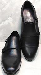Модельные туфли мужские кожаные черные Ikoc 2205-1 BLC.
