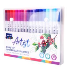 Mazari Artist набор маркеров для скетчинга 36 шт двусторонние акварельные пуля/кисть 0.4-3.5 мм