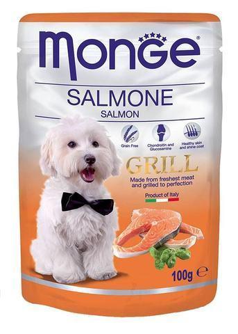 Купить пауч Monge Grill Pouch Salmon влажный корм для собак лосось 100г