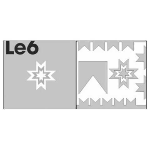 Трафарет для ногтей 6 шт. /1 уп. № LE6