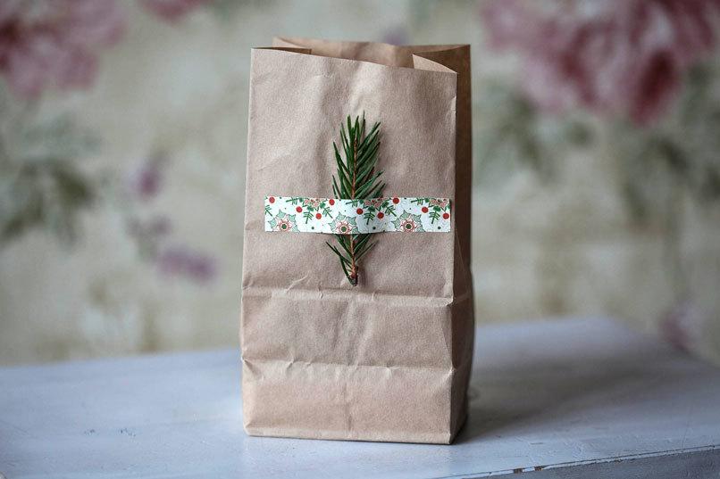 Этиклейка на упаковку Старинное Рождество