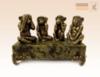 фигурка Четыре обезьяны на змеевике