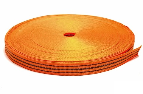 Стропа буксировочная (оранжевая) 6т. 100м. ширина 50 мм СЕРВИС КЛЮЧ (73770)