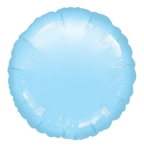 Шар-круг Голубой Пастель, 45 см