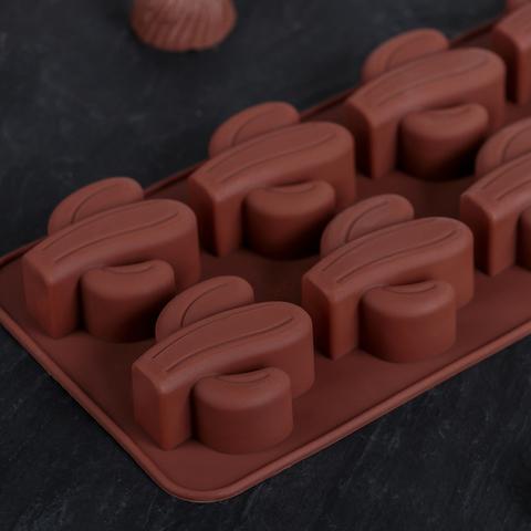 Форма для льда и шоколада 22,2×10,5×2 см «Кактус»