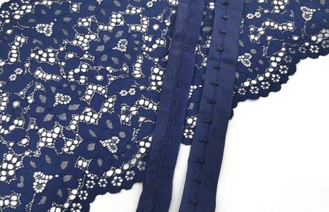 Крючки-петли на ленте, темно-синий, (Арт: KPL-061)