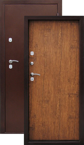 Дверь входная Медверь стальная, старое дерево, 2 замка, фабрика Город Мастеров