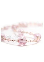 Комплект Примавера розовый (серьги, ожерелье, браслет)